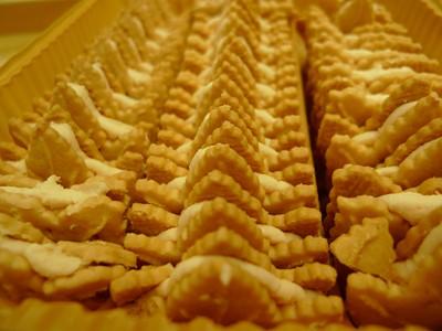 ズラリと並んだ「メープルリーフクッキー」